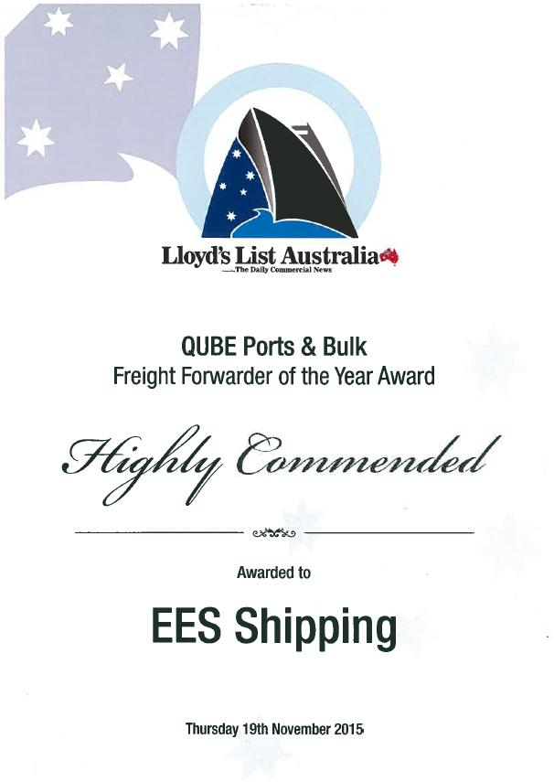 Awards | EES Shipping | Logistics is our world | Perth, Western