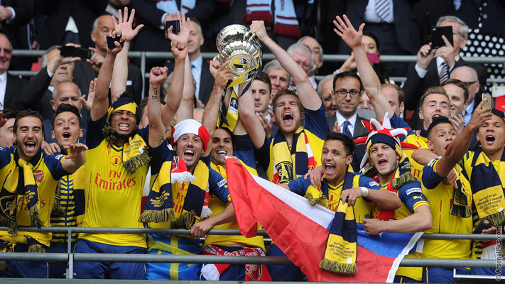 Arsenal wins FA Cup 2015-0